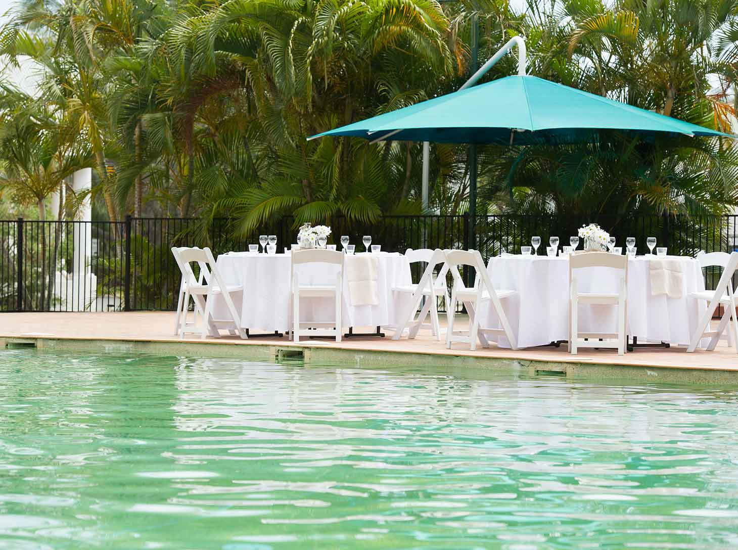 Eurong Beach Resort Weddings - Poolside Reception
